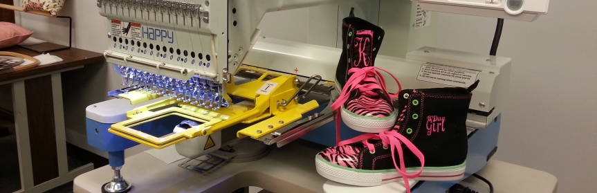 Embroider High Top Sneakers? Yeah Baby!