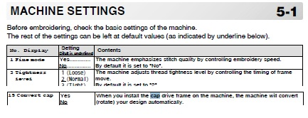 HCD2MachSettings